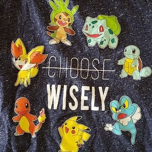 Boys Youth POKEMON Choose Wisely Tee Shirt M